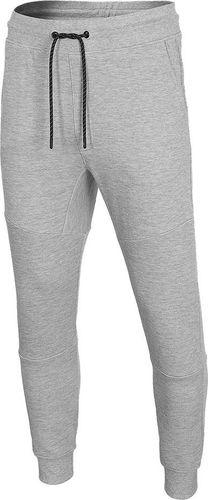 4f Spodnie męskie 4F chłodny jasny szary melanż D4L20 SPMD209 27M