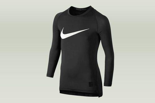 Nike Czarna koszulka termoaktywna Nike Pro Top Compression 726460-010 JR 128