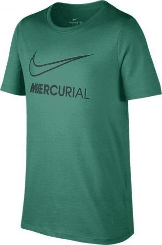 Nike Zielona koszulka Nike Mercurial Dry Tee Boot 913904-348 JR 140