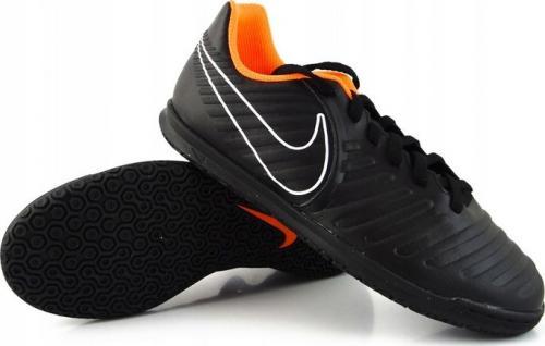 Nike Czarne buty piłkarskie na halę Nike TiempoX Legend Club IC AH7260-080 JR 35,5