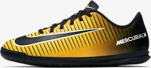 Nike Pomarańczowo-czarne buty piłkarskie na halę Nike Mercurial Vortex IC 831953-801 JR 36