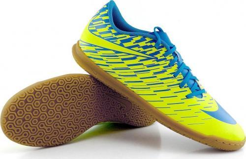 Nike Żółto-niebieskie buty piłkarskie na halę Nike Bravatax IC 844441-700 45,5