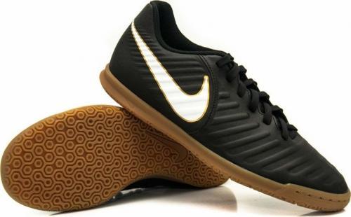 Nike Czarne buty piłkarskie na halę Nike Tiempo Rio IC 897735-002 JR 35,5