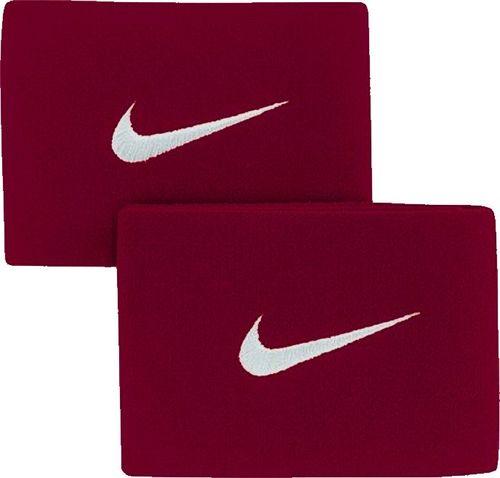 Nike Bordowe opaski na ochraniacze piłkarskie Nike Guard Stay II SE0047-611 uniwersalny