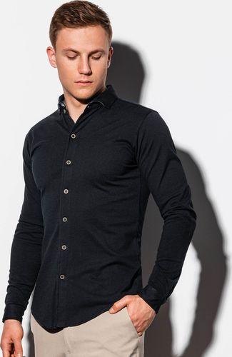 Ombre Koszula męska z długim rękawem K540 - czarna L