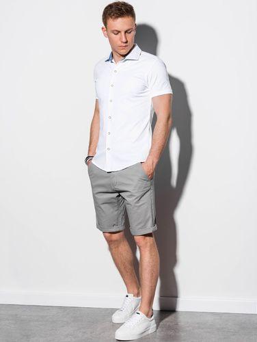 Ombre Koszula męska z krótkim rękawem K541 - biała L