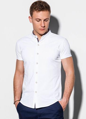 Ombre Koszula męska z krótkim rękawem K543 - biała L