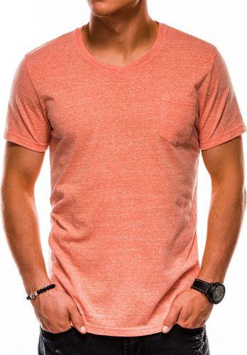 Ombre Koszulka męska S1045 pomarańczowa r. S
