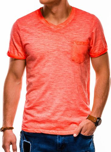 Ombre Koszulka męska S1053 pomarańczowa r. M
