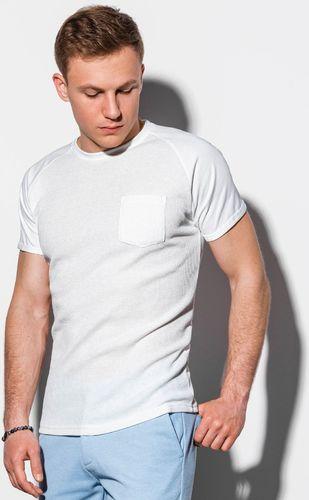 Ombre Koszulka męska S1182 biała r. S