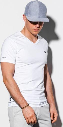 Ombre Koszulka męska S1183 biała r. XXL