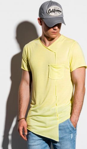 Ombre Koszulka męska S1215 żółta r. L
