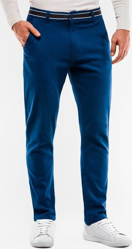 Ombre Spodnie męskie chino P156 - ciemnoniebieskie M