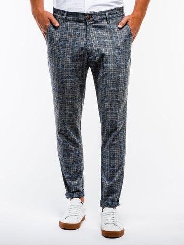 Ombre Spodnie męskie chino P848 - czarne S