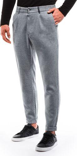 Ombre Spodnie męskie chino P869 - szare L