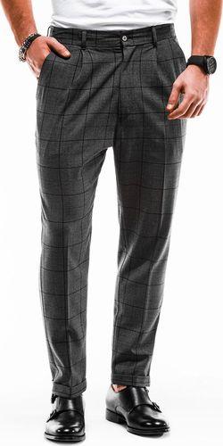 Ombre Spodnie męskie chino P884 - grafitowe S