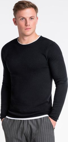 Ombre Sweter męski E121 - czarny L