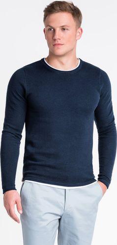 Ombre Sweter męski E121 - granatowy M