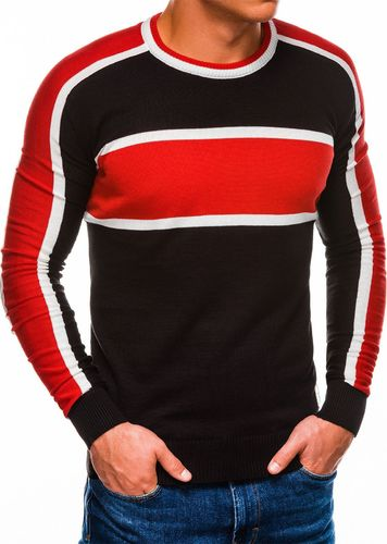 Ombre Sweter męski E145 - czarny M