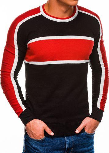 Ombre Sweter męski E145 - czarny XL