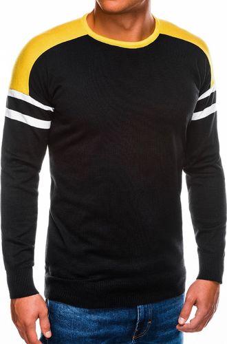 Ombre Sweter męski E146 - czarny S