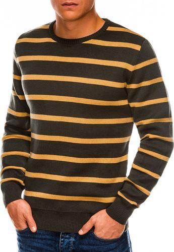 Ombre Sweter męski E155 - zielony XXL