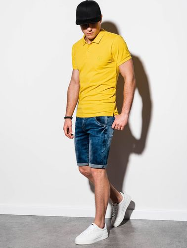 Ombre Koszulka męska S1048 żółta r. S