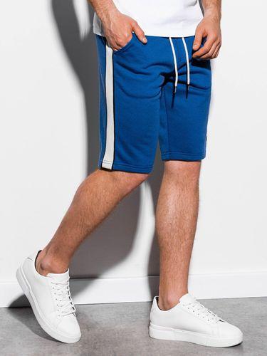 Ombre Krótkie spodenki męskie dresowe W241 - niebieskie M