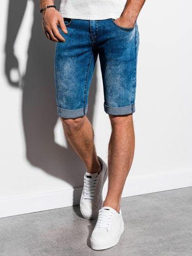 Ombre Krótkie spodenki męskie jeansowe W058 - niebieskie S