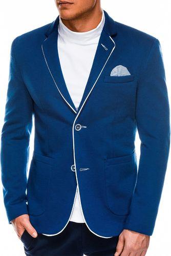 Ombre Marynarka męska elegancka M81 - niebieska M