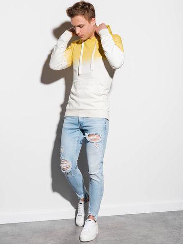 Ombre Bluza męska żółta r. XL (B1048)
