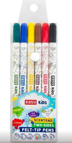 Easy Pisaki spieralne zapachowe dwustronne 6 kolorów