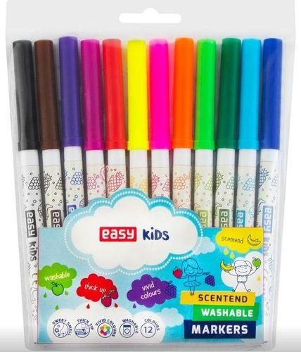 Easy Pisaki spiralne zapachowe 12 kolorów EASY