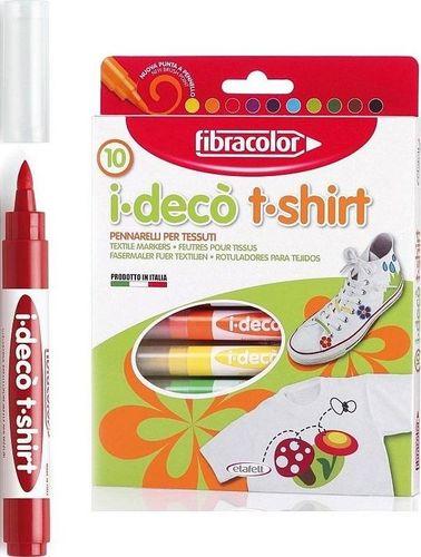 Fibracolor Mazaki dekoracyjne I-Deco T-shirt 10 kolorów
