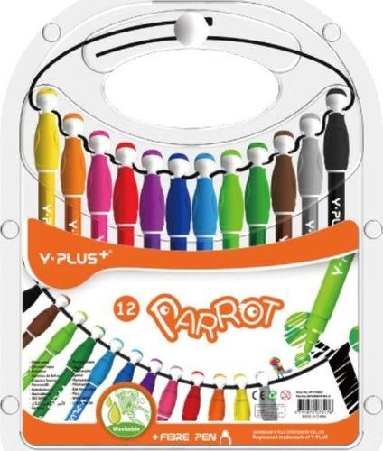 Y-PLUS Flamastry Parrot 12 kolorów