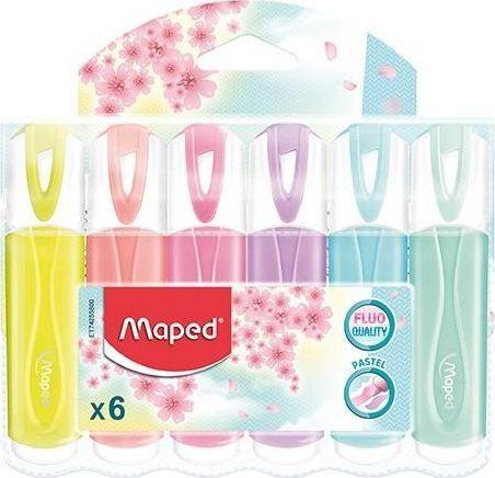 Maped Zakreślacz Fluo Peps pastel 6 kolorów MAPED