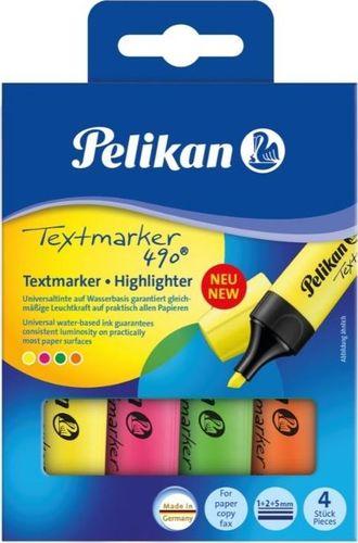 Pelikan Zakreślacz 490 etui 4 kolory