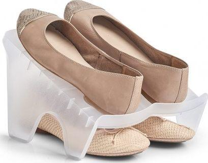Zeller Stojak na buty na 1 parę, plastik, przezroczysty