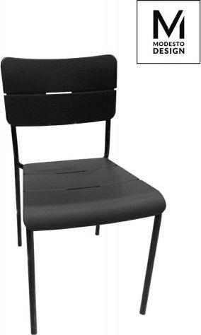 Modesto Design MODESTO krzesło RENE czarno-białe - polipropylen, metal