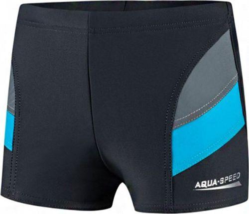 Aqua-Speed Spodenki kąpielowe dla chłopca Andy szaro niebieskie 32 128cm
