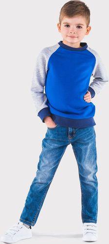 Ombre Bluza dziecięca bez kaptura KB003 - niebieska 92