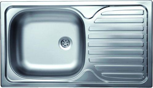 Deante Zlewozmywak 1-komorowy Techno z ociekaczem 43,5 x 76cm stalowy (ZMU 3110)