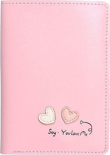 Accessorize Me Cienki portfel damski pudrowy róż Serca WK15
