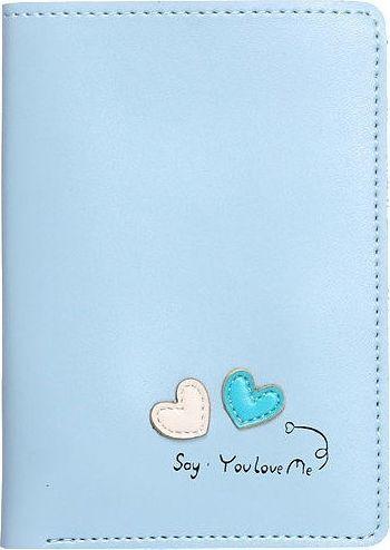 Accessorize Me Cienki portfel damski niebieski Serca WK15