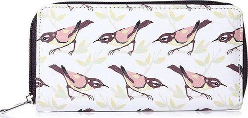 Accessorize Me Portfel kopertówka na zamek w ptaki WS32