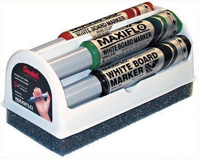 Pentel Maxflo MWL5M Marker Suchoscieralny MWL5M z gąbką, 4 kolory