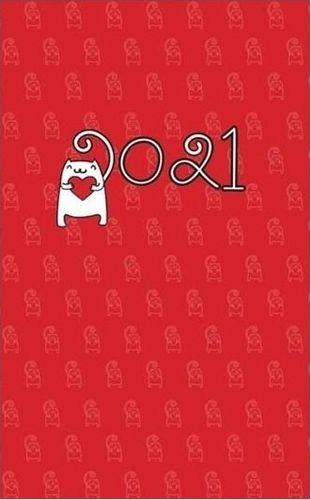 Albi Kalendarz kieszonkowy A6 2021 Kot z sercem ALBI