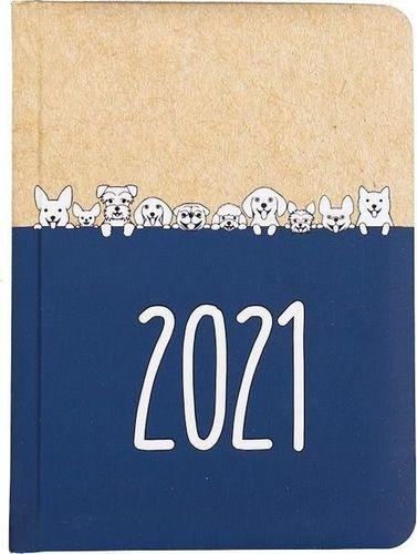 Albi Kalendarz tygodniowy B6 2021 Kraft pies ALBI