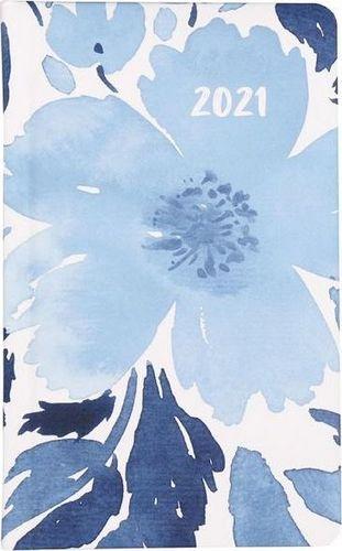Albi Kalendarz kieszonkowy A6 2021 Niebieski kwiat ALBI