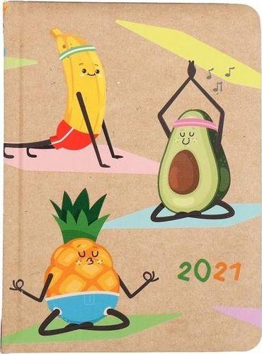 Albi Kalendarz tygodniowy B6 2021 Kraft owoce ALBI